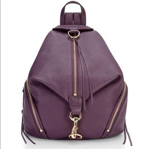 Rebecca Minkoff Julian Backpack purse in Eggplant